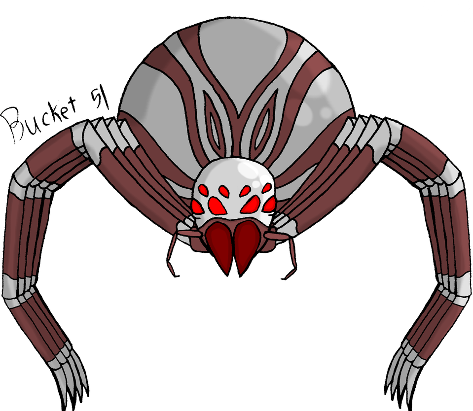 Drawing insects sci fi. A random silver spider