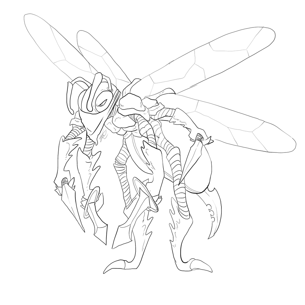 Drawing insects sci fi. Thunderhead characters artcorgi commission