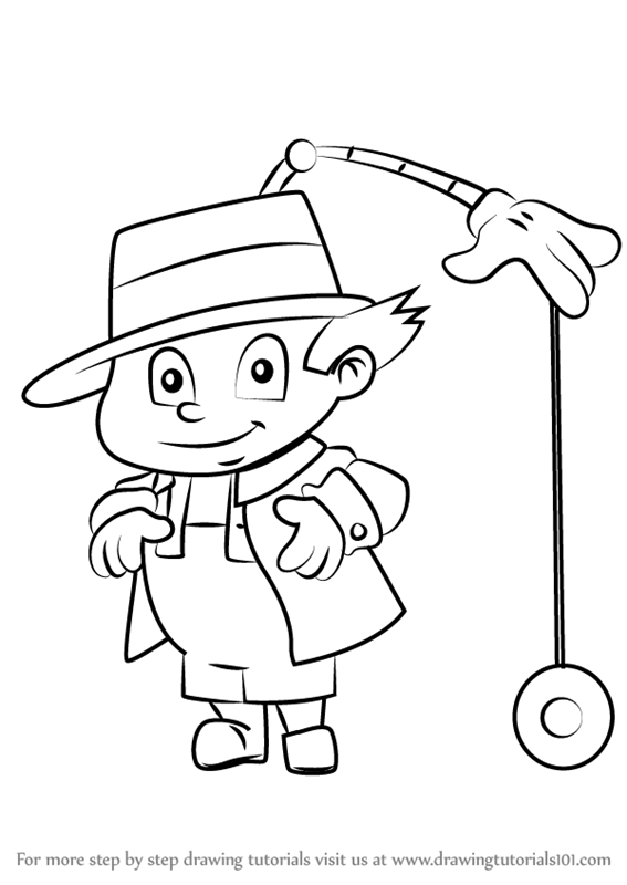 Drawing inspector gadget. Learn how to draw