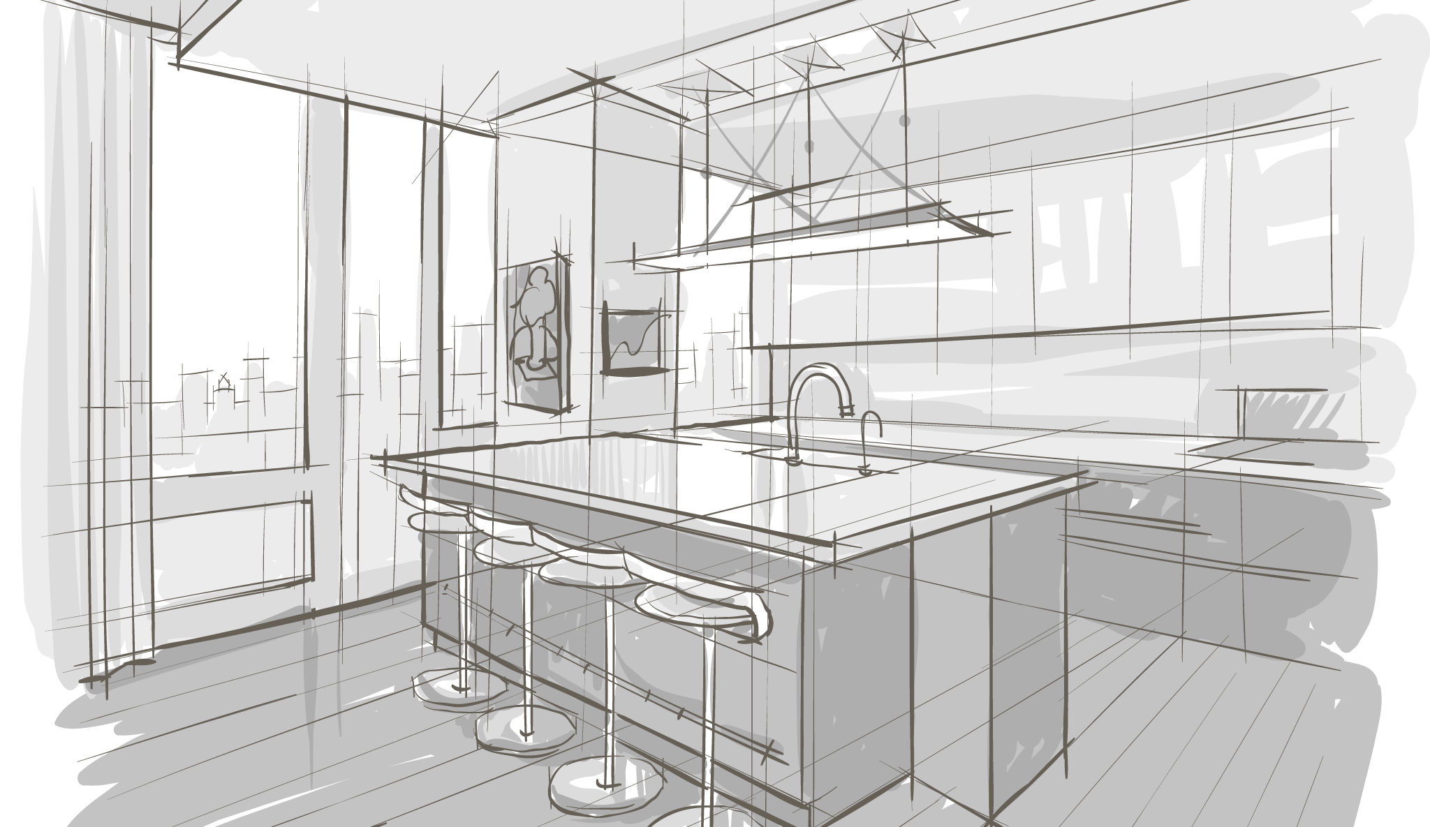 Spatial Drawing Home Interior Transparent Png Clipart Free