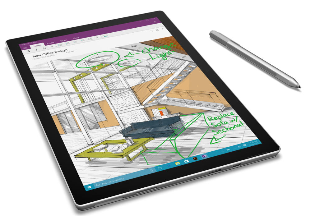 Drawing ipad. Entry level surface pro