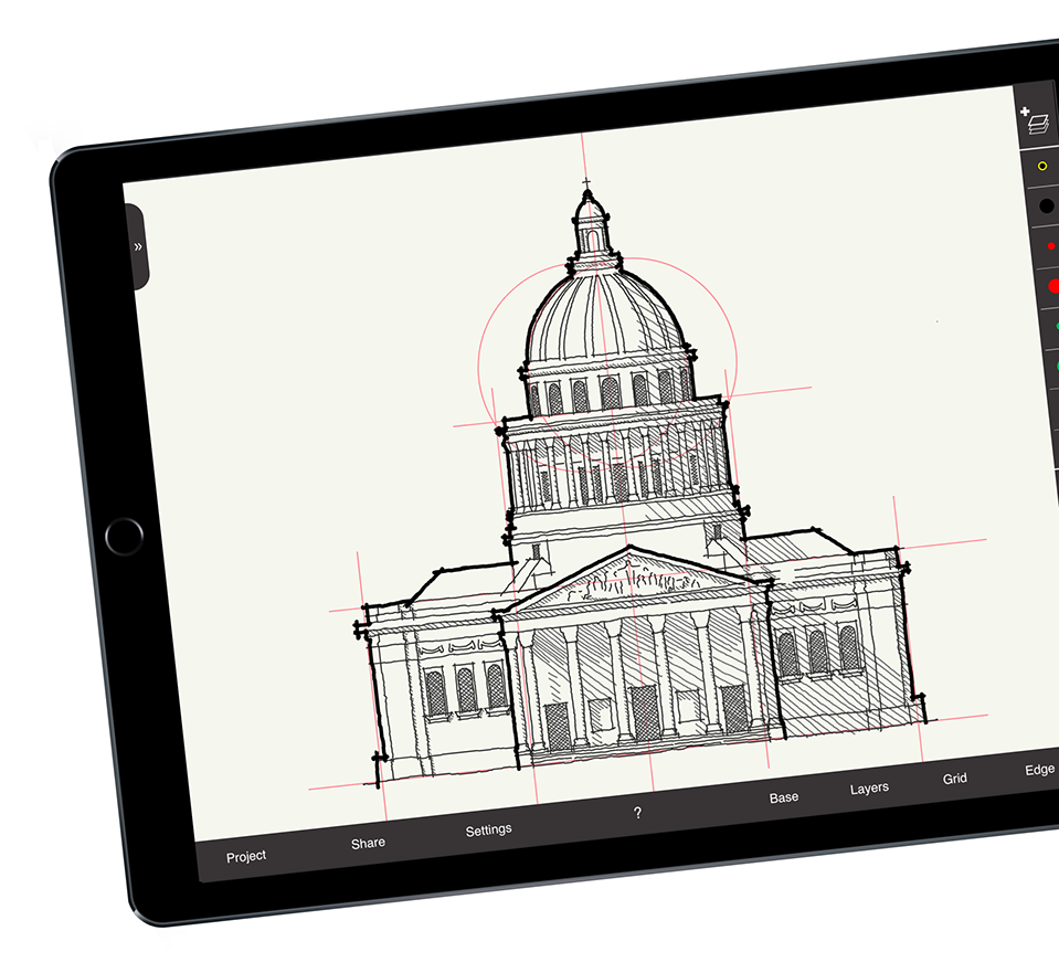 Drawing ipad architectural. Home arrette sketch is