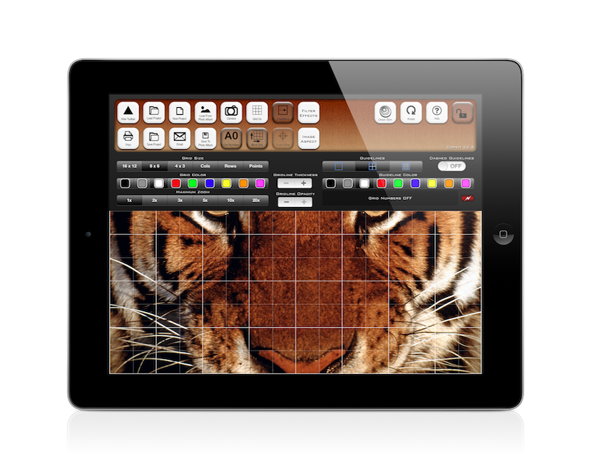 Drawing ipad concept art. The grid method for