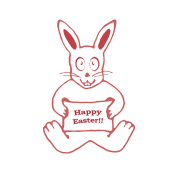 Drawing ipad cute. Bunny happy easter in