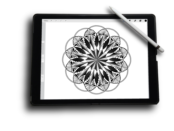 Drawing ipad easy. Doodles within a framework