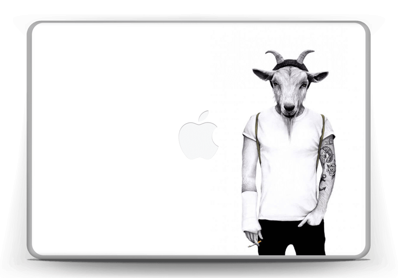 Drawing ipad hipster. Goat caseapp