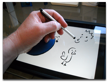 Drawing ipad i pad. Artists avoiding accidental gestures
