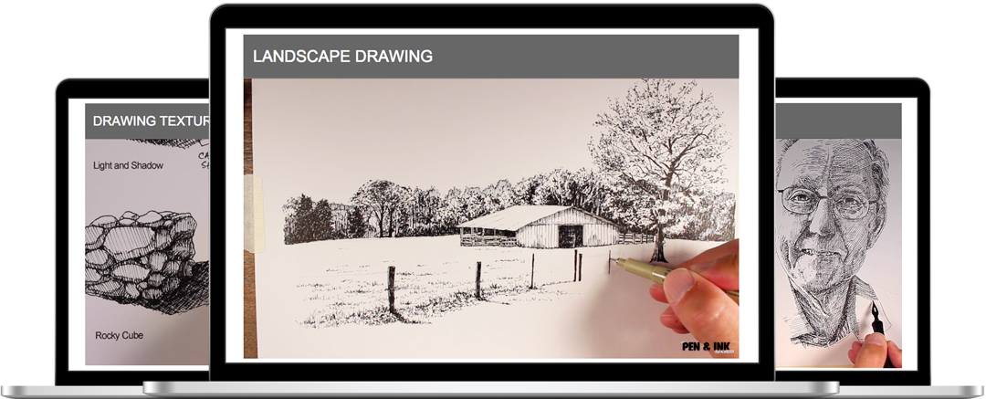 Drawing ipad photographic. The pen and ink