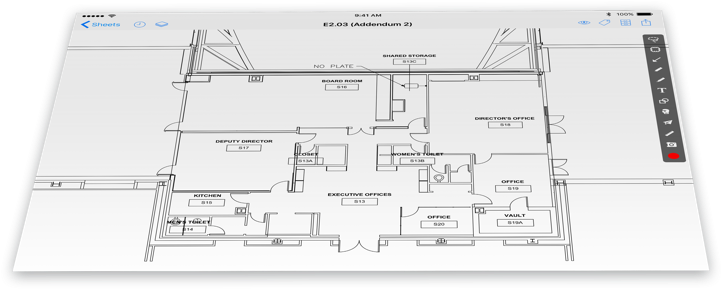 Drawing ipad technical. Construction management software plangrid