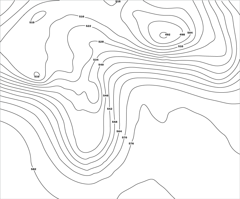 Drawing isobars high pressure. Nws jetstream constant charts