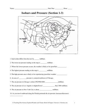 drawing isobars worksheet