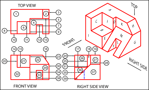 Drawing isometrics orthographic. Collection of to