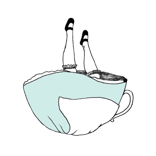Drawing it alice in wonderland. Image about tea happy