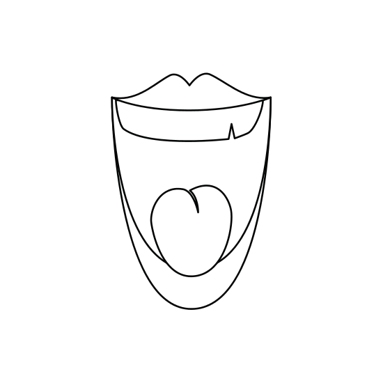 Drawing it mouth. Laughing cartoon icons by
