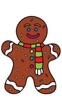 Drawing items. How to draw gingerbread