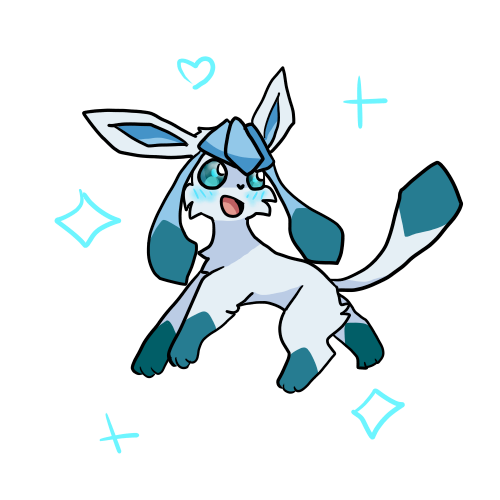 Drawing ivy. Glaceon by cinder on
