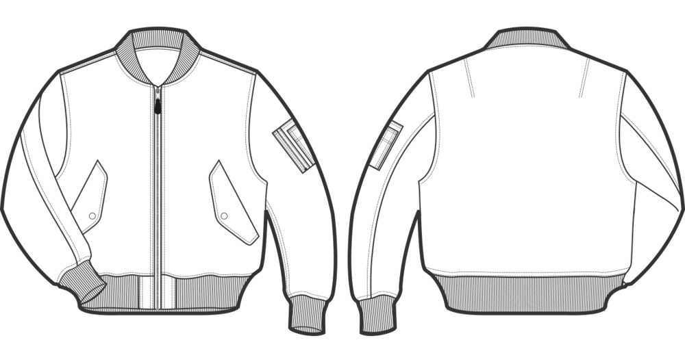 tech drawing blazer