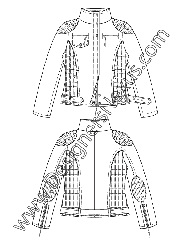 drawing jackets trench coat