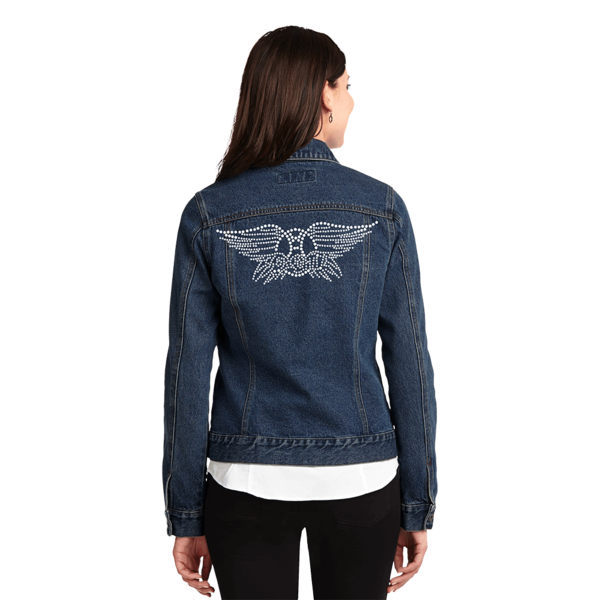 Drawing jackets denim jacket. Bling aerosmith official store