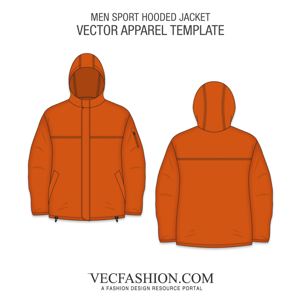 Drawing jackets hood vector. Coats vecfashion men sport