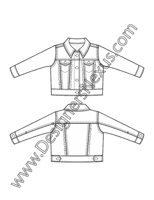 Drawing jackets denim jacket. Free illustrator fashion flat