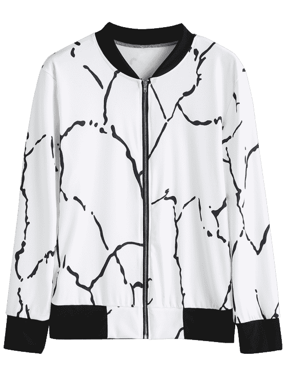 Drawing jackets track jacket. Graffiti zip up white