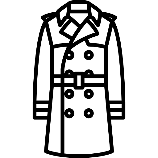 Drawing jackets trench coat. Icons free download