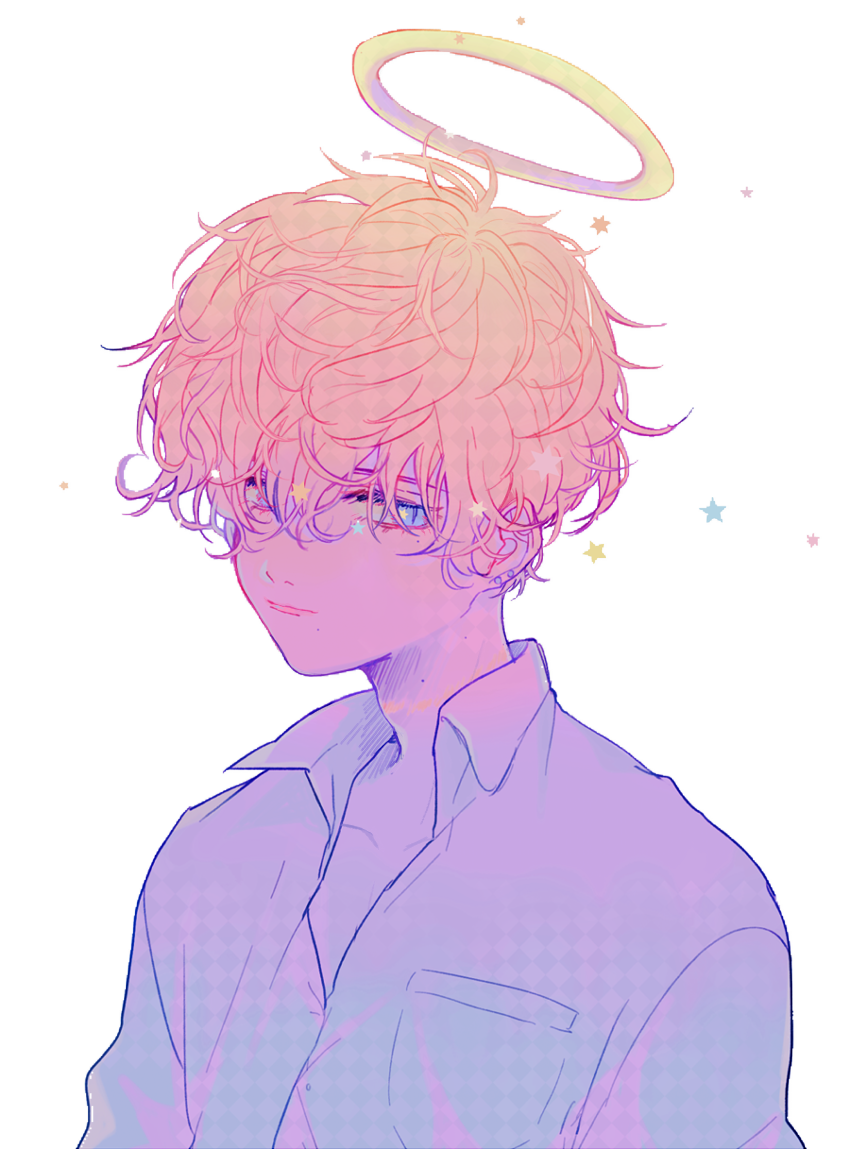 Sticker aesthetic rainbow pastel. Sad anime boy png image library download