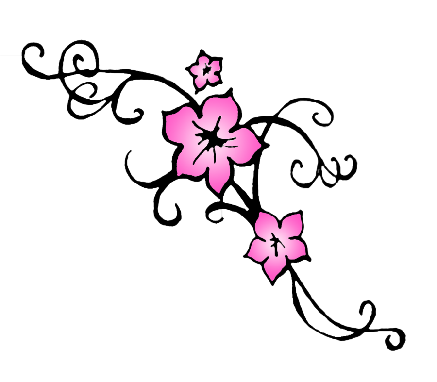 Drawing japanese cherry blossom. Clip art cliparts nail