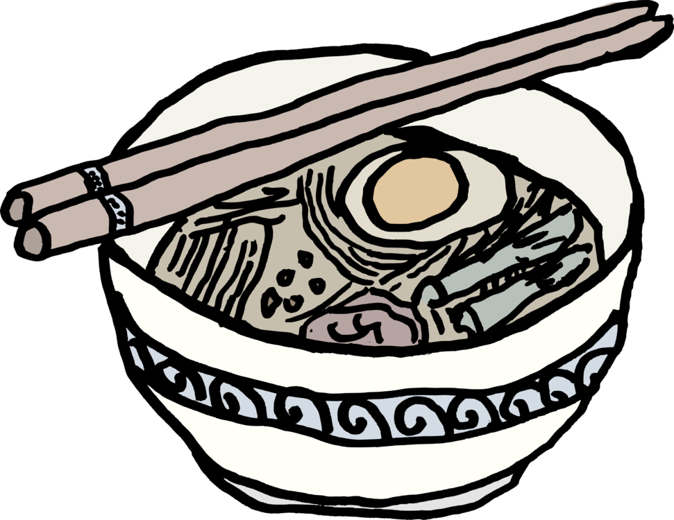Drawing japanese space. Collection of free ramen