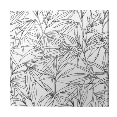 Drawing japanese style. Seamless pattern with bamboo