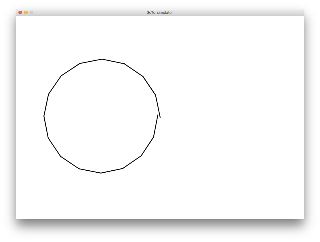 Drawing java circles. A circle in turtle