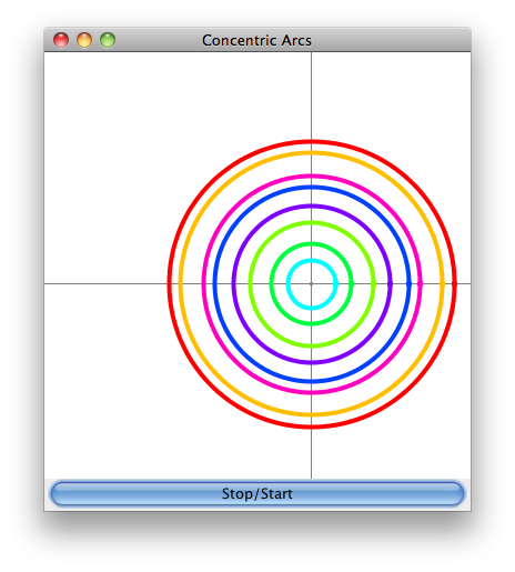 Drawing java circles. Draw series of concentric