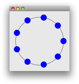 Drawing java paint. Draw a circle with
