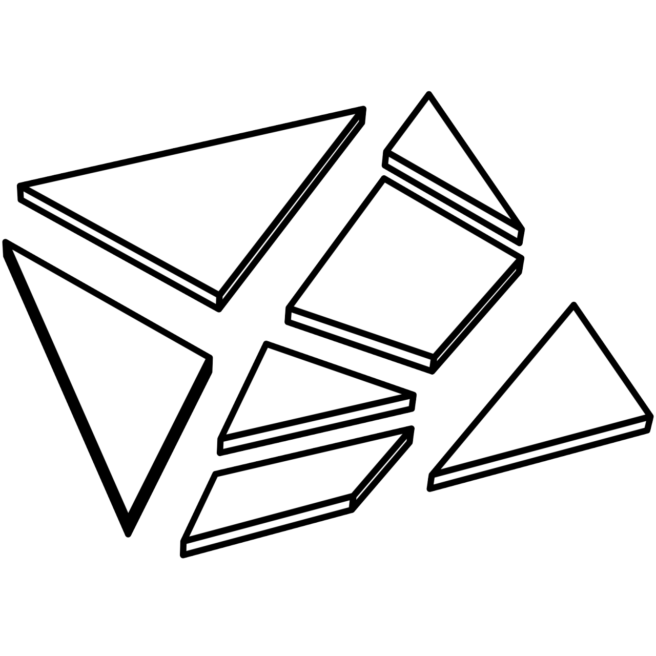 Drawing javascript triangle. Edges of a mesh
