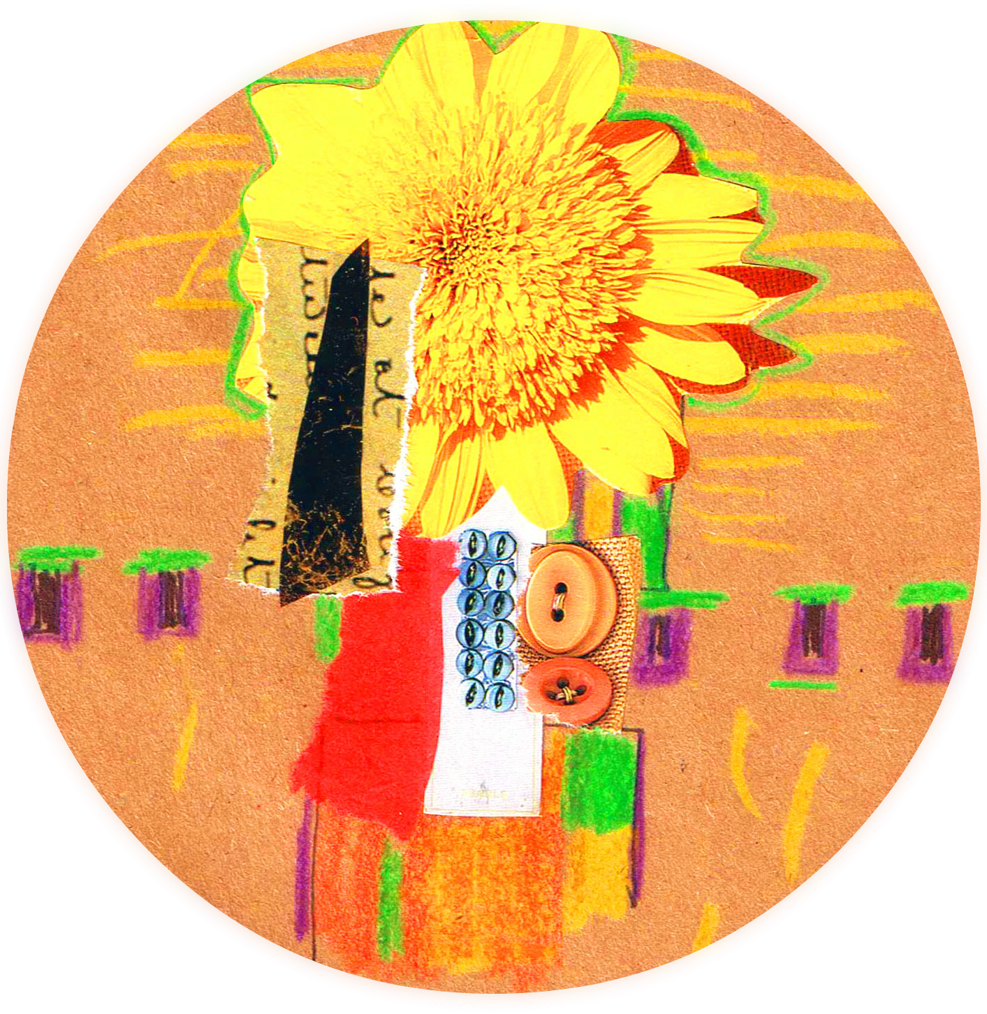 Drawing journals art therapy. Expressive inspirations empowerment sunflower