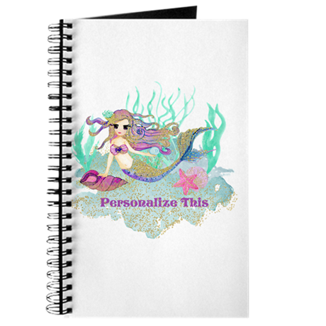 Drawing journals cute. Personalized mermaid journal by