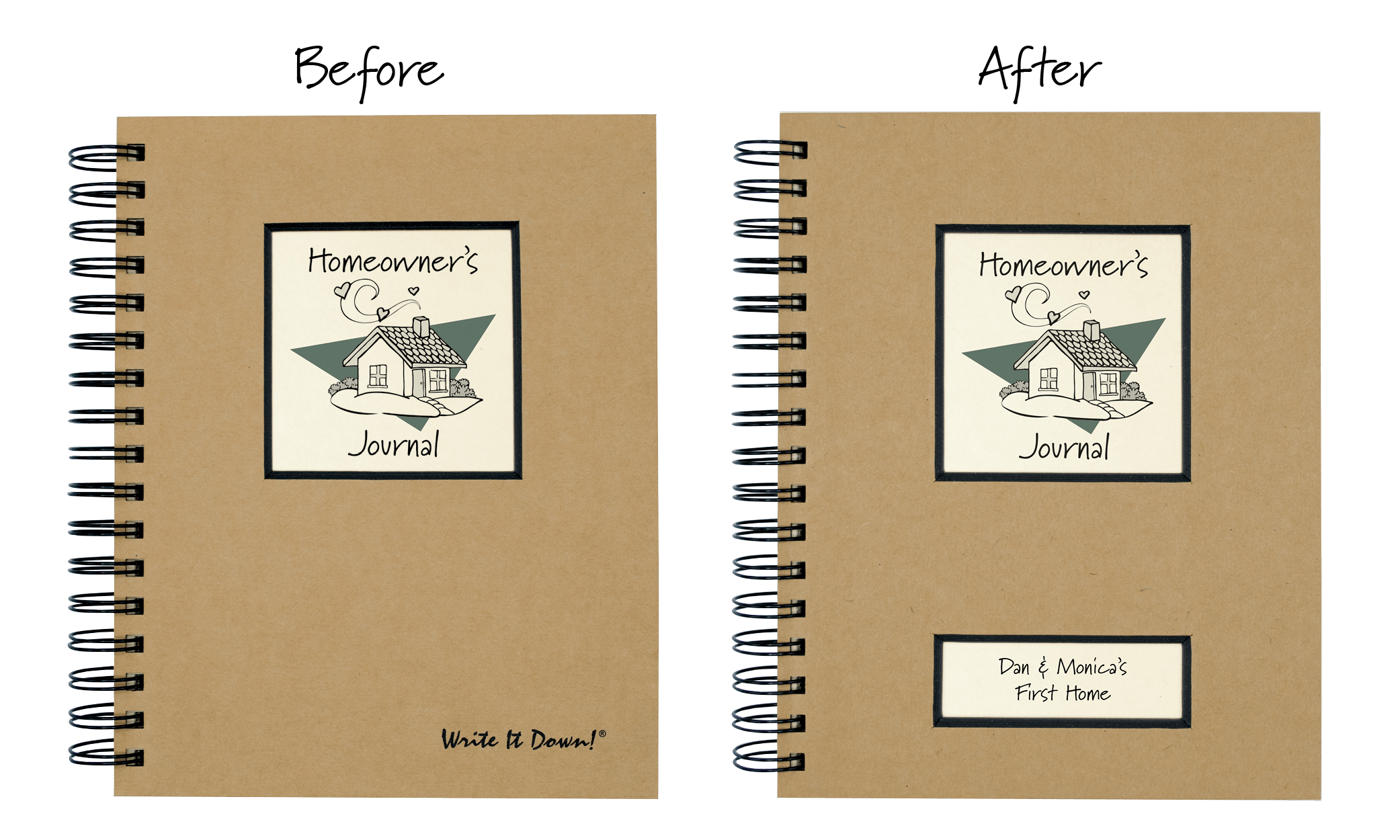 Drawing journals diary. Personalized unlimited inc