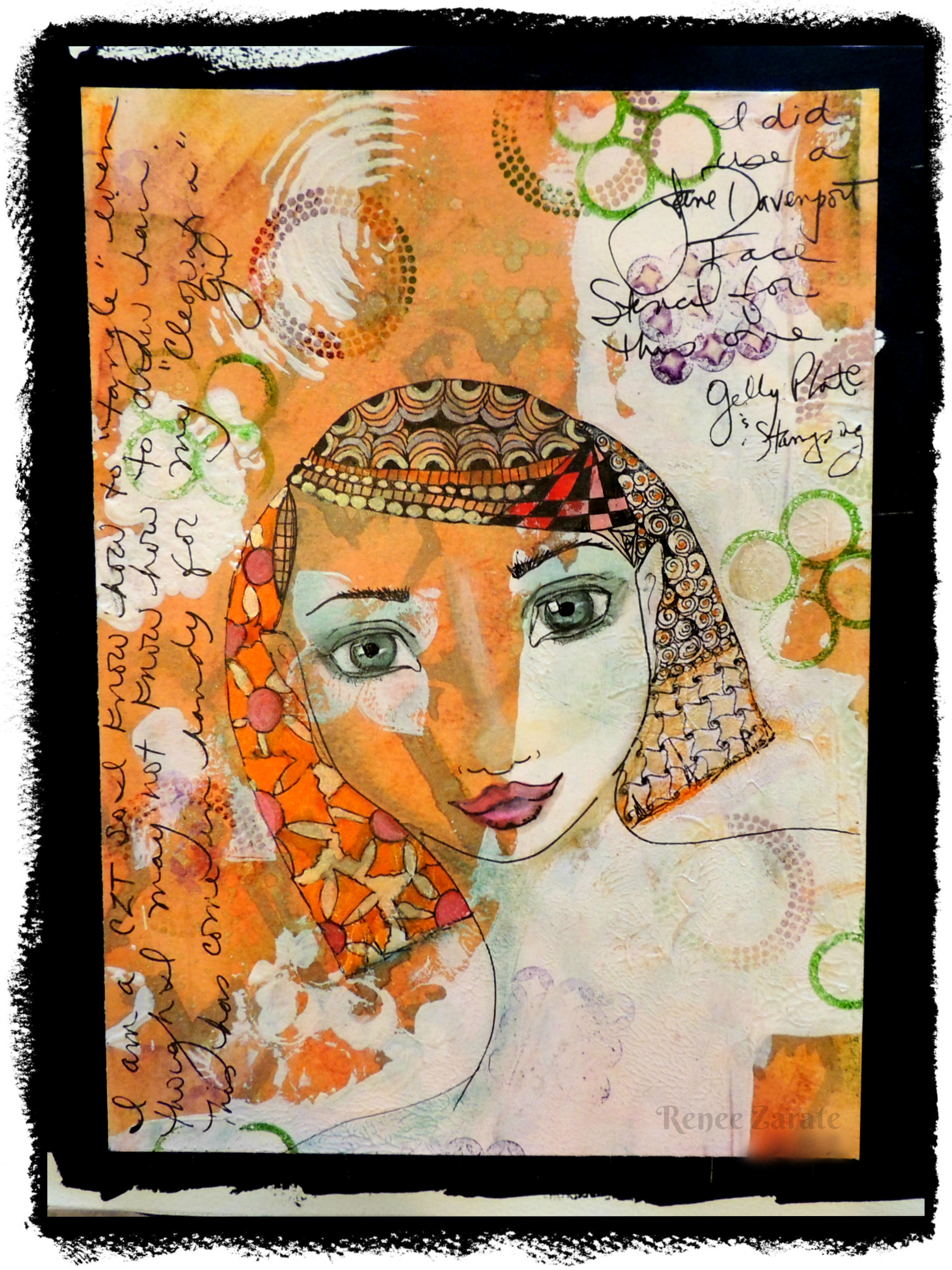 Drawing journals inspiration. Art journal page by