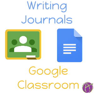Drawing journals journal entry. Google classroom using a