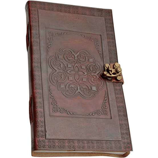 Drawing journals leather. Celtic knot journal with