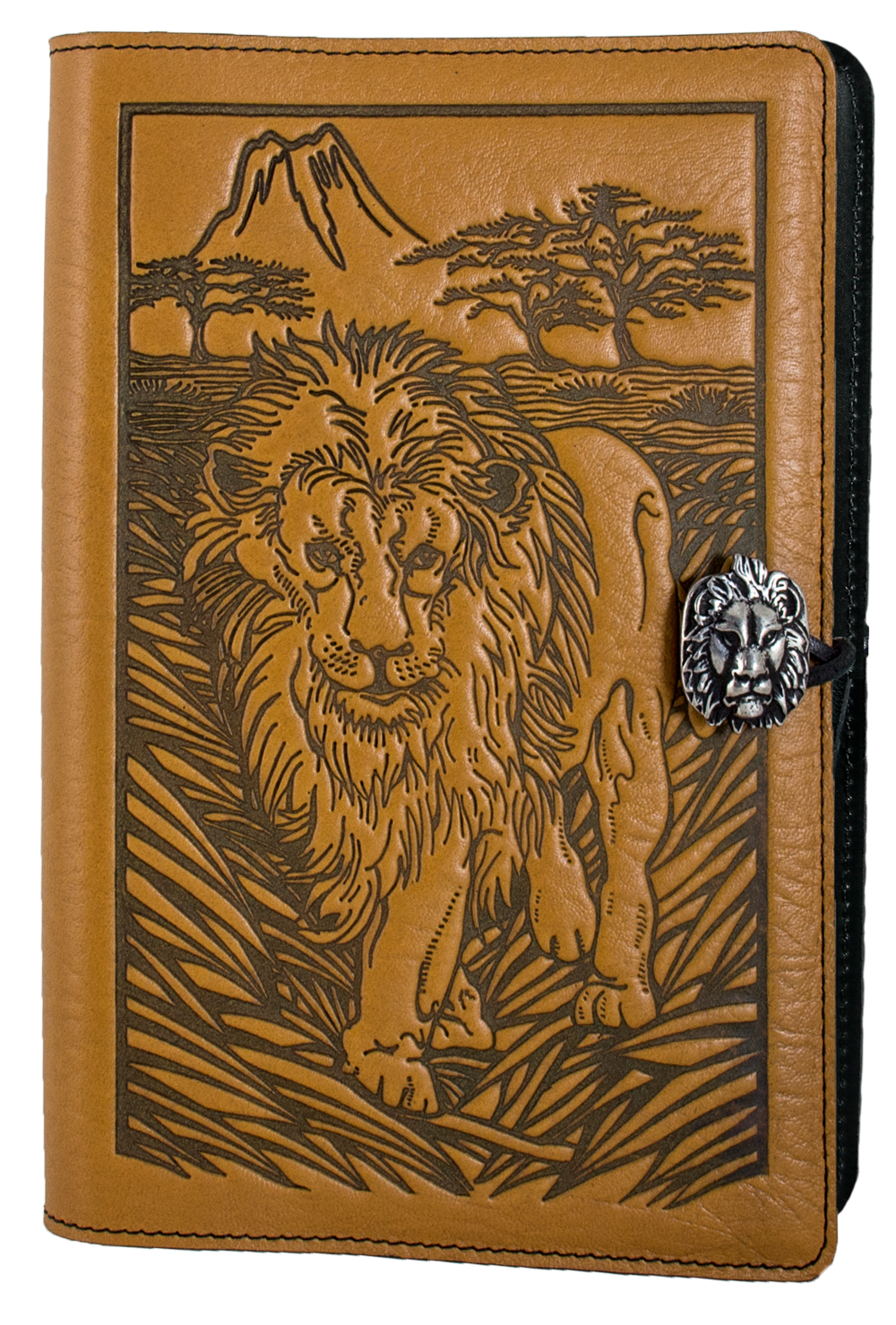 Drawing journals leather. Journal cover diary lion