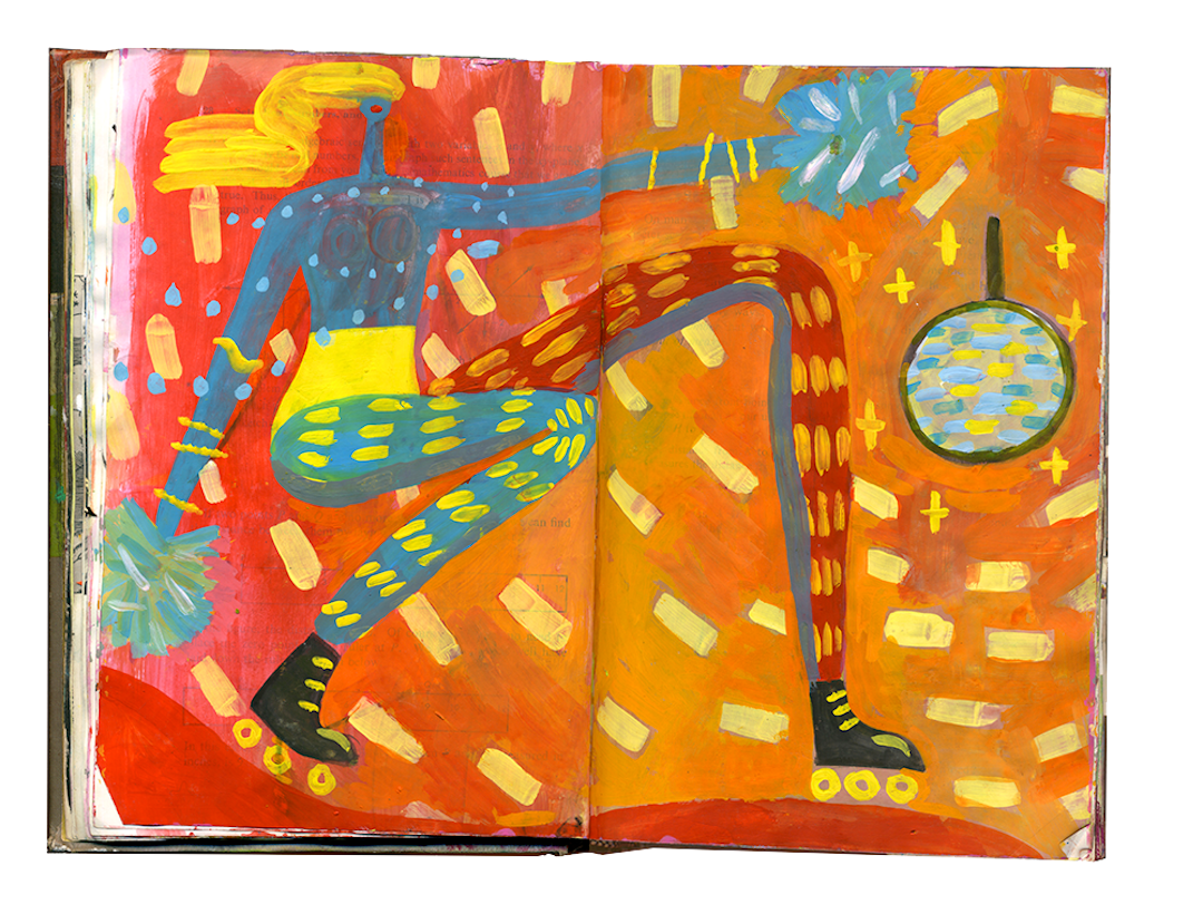 Expressionism drawing design. Sketchbooks that are handheld