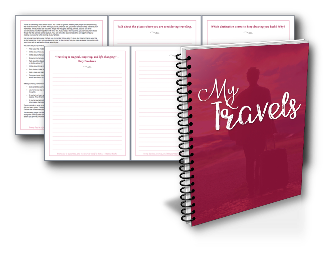Drawing journals travel. Personal journal power pack