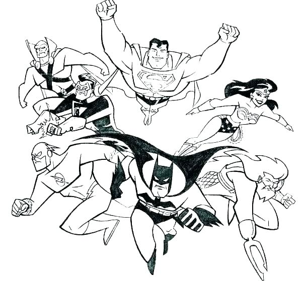 Drawing justice league. Collection of clipart free