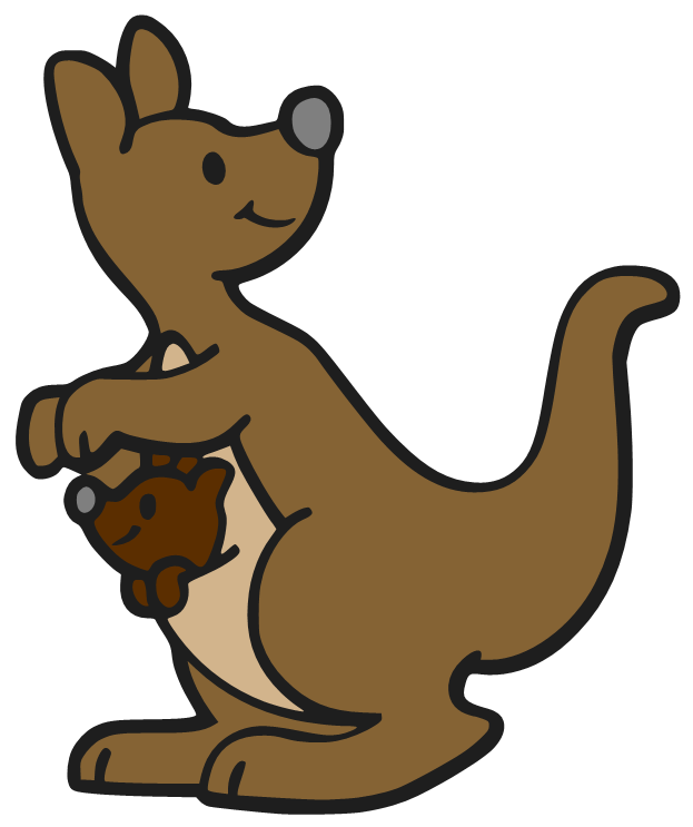 Beanie s tag you. Drawing kangaroo baby clip library stock