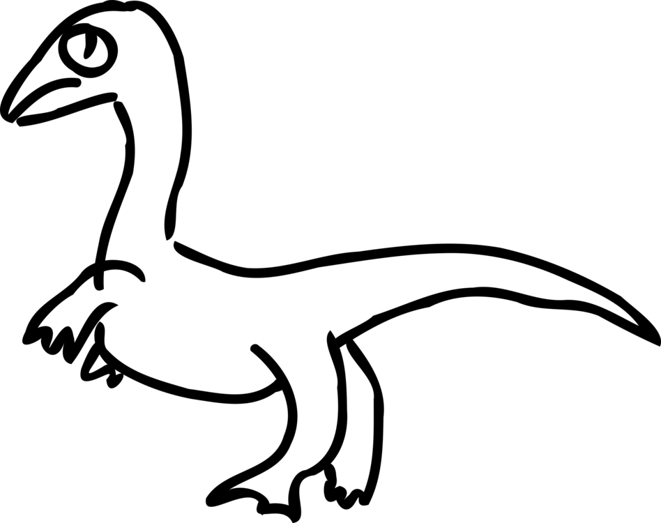 Drawing kangaroo diagram. Velociraptor dinosaur duck free