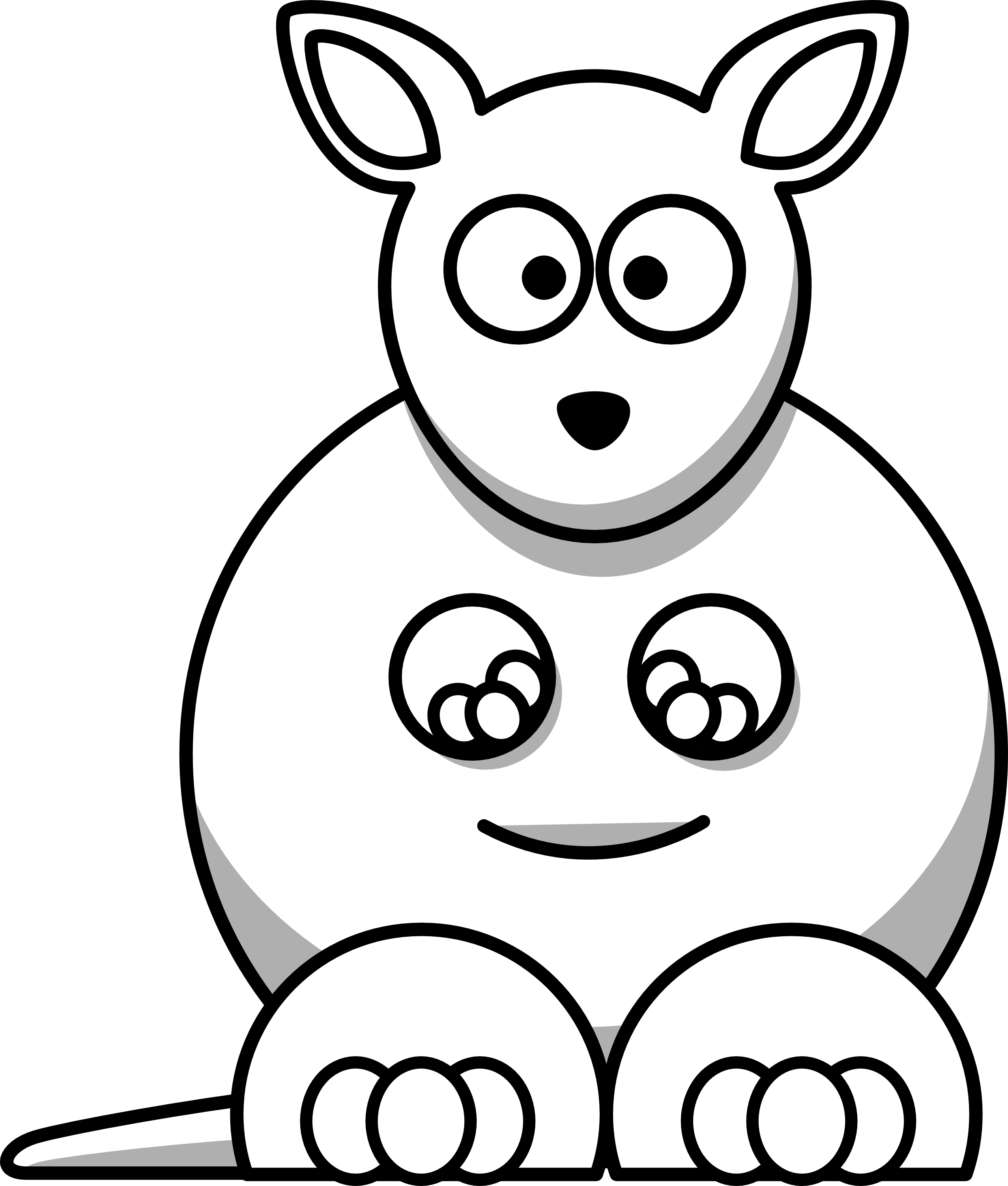 Simple face google search. Drawing kangaroo image free library