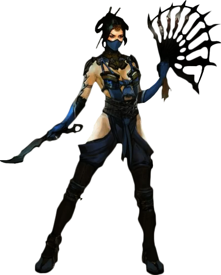 Kitana drawing mortal kombat. X render by xxkyrarosalesxx