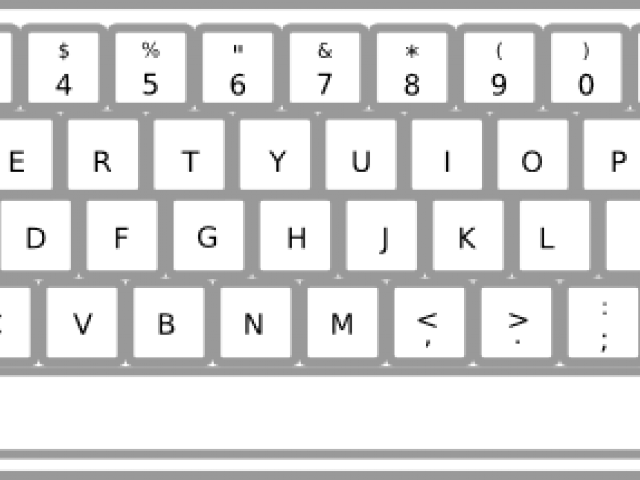 Drawing keyboard black and white. Mouse image freeuse
